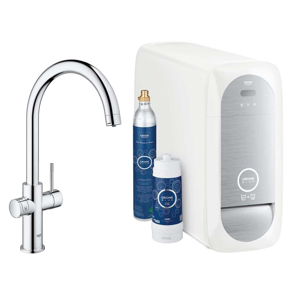 grohe blue home prijs 1359 incl montage keukenkraan specialist. Black Bedroom Furniture Sets. Home Design Ideas
